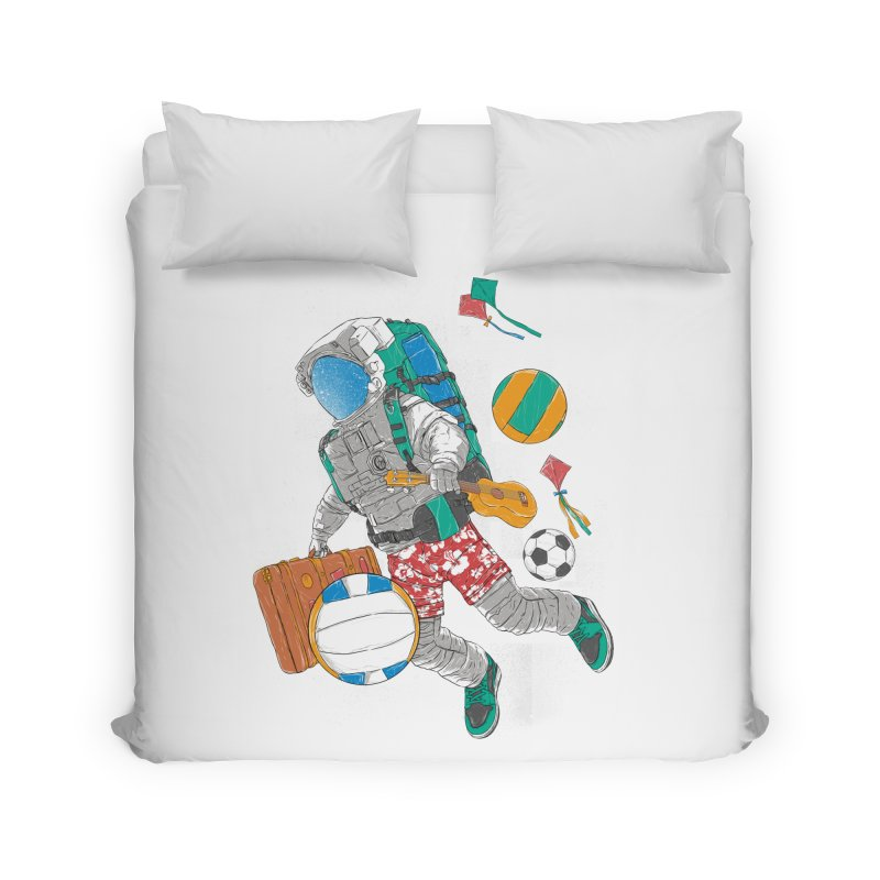 astronaut on vacation Home Duvet by hd's Artist Shop