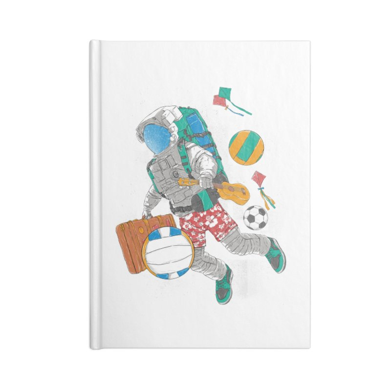 astronaut on vacation Accessories Blank Journal Notebook by hd's Artist Shop