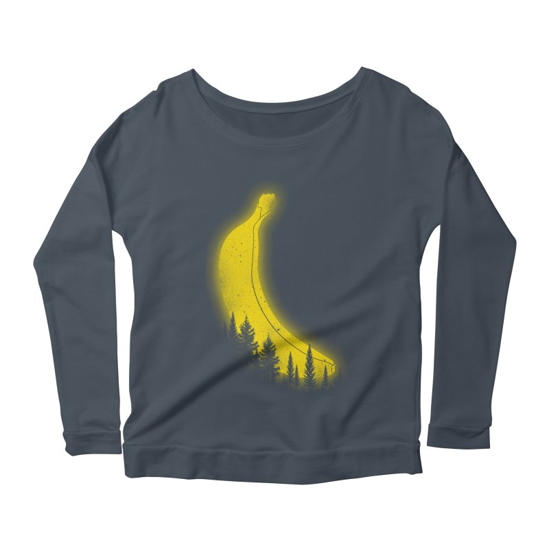 MOONana Women's Scoop Neck Longsleeve T-Shirt by hd's Artist Shop