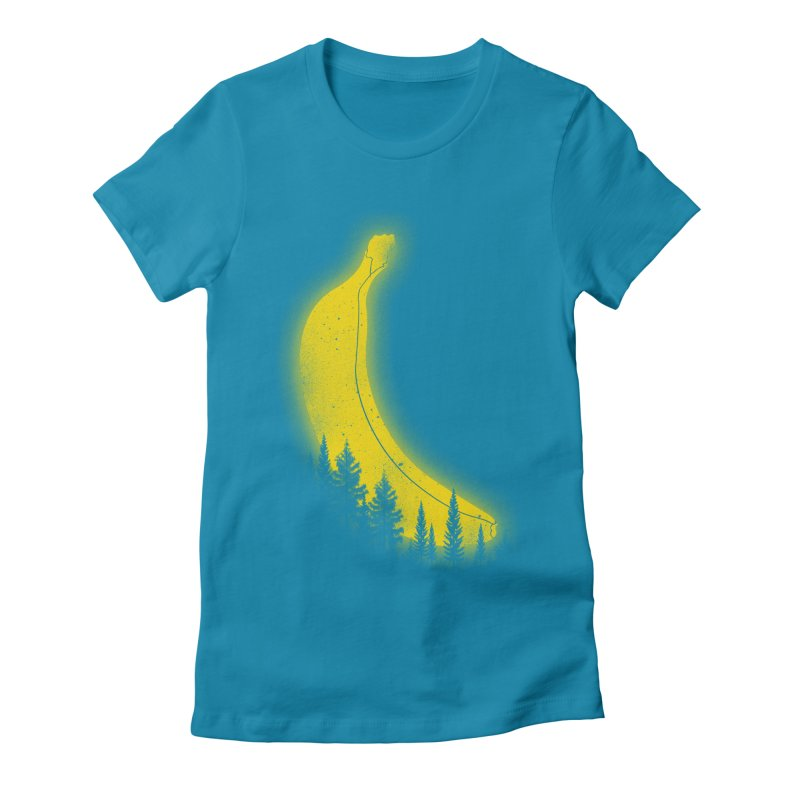 MOONana Women's Fitted T-Shirt by hd's Artist Shop