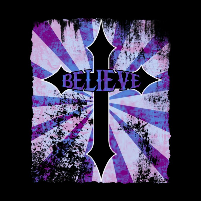 Believe (distressed) Women's T-Shirt by Hect Dogg Ind.'s Artist Shop