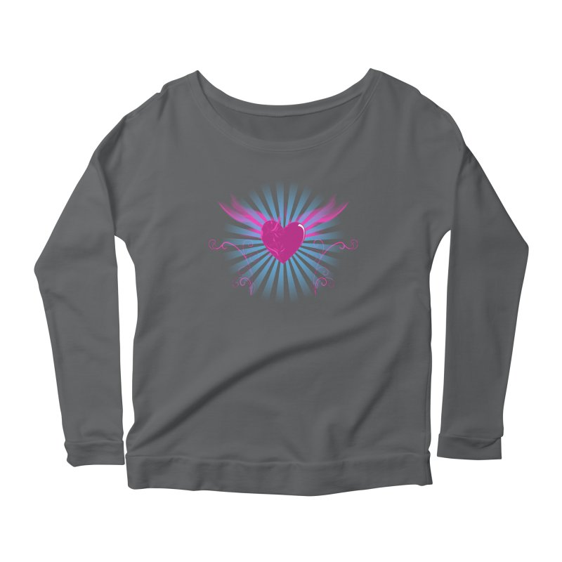 Mystical Heart Women's Scoop Neck Longsleeve T-Shirt by Hect Dogg Ind.'s Artist Shop