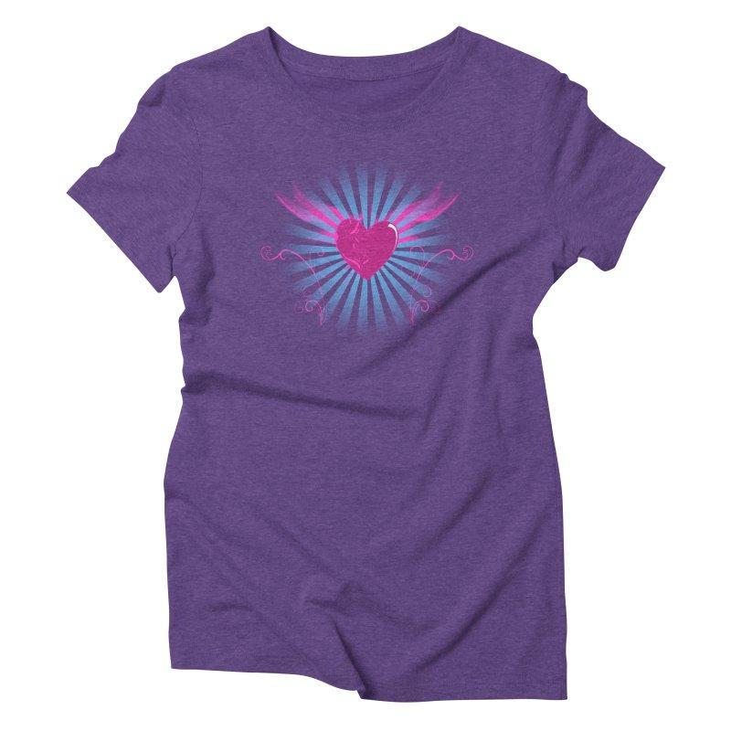 Mystical Heart Women's Triblend T-Shirt by Hect Dogg Ind.'s Artist Shop