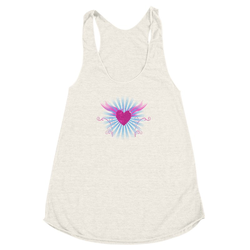 Mystical Heart Women's Racerback Triblend Tank by Hect Dogg Ind.'s Artist Shop