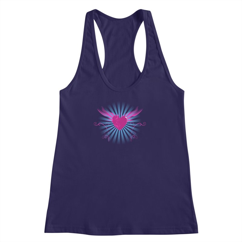 Mystical Heart Women's Racerback Tank by Hect Dogg Ind.'s Artist Shop