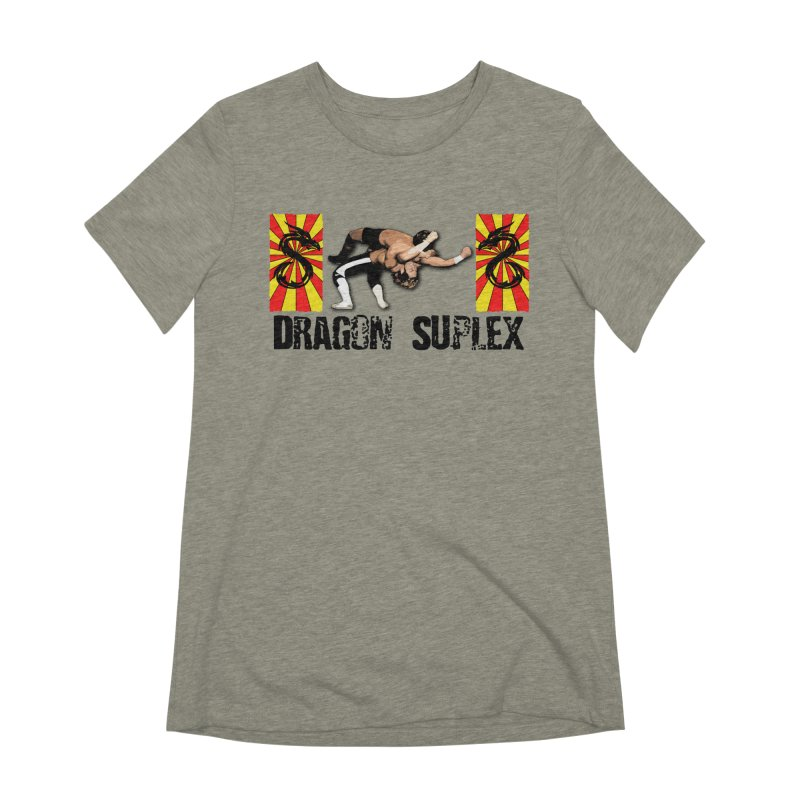 Dragon Suplex (black text) Women's Extra Soft T-Shirt by Hect Dogg Ind.'s Artist Shop