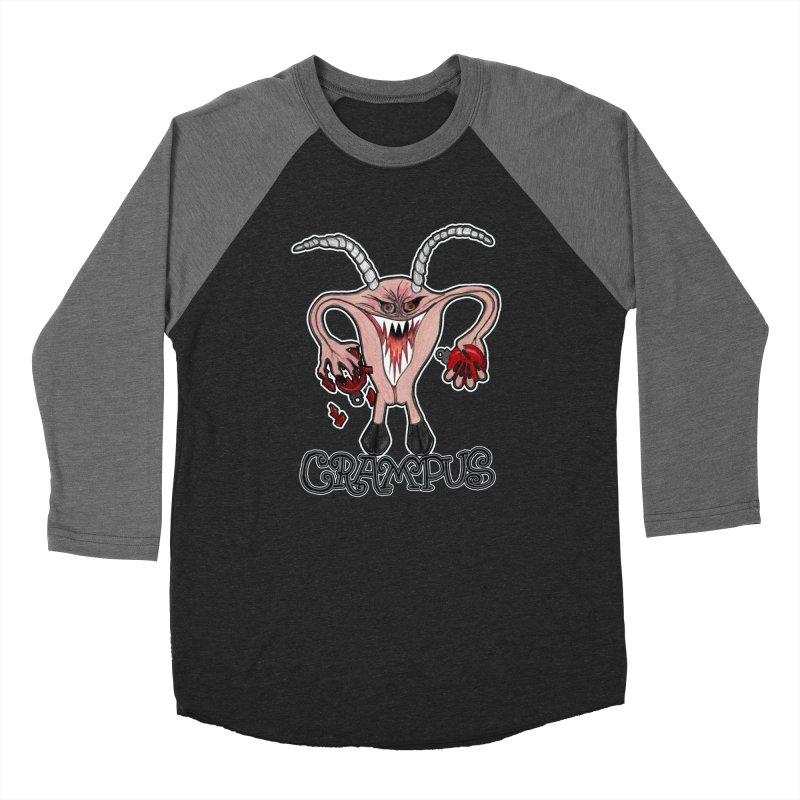 Crampus A.K.A. Krampus Men's Baseball Triblend Longsleeve T-Shirt by heARTcart's Artist Shop