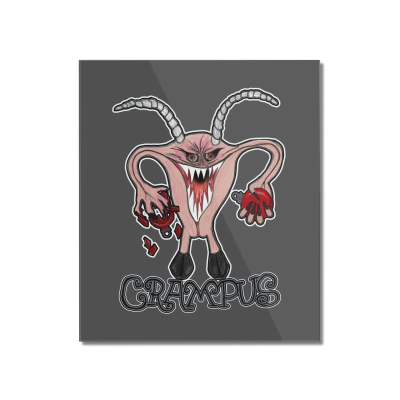 Crampus A.K.A. Krampus Home Mounted Acrylic Print by heARTcart's Artist Shop