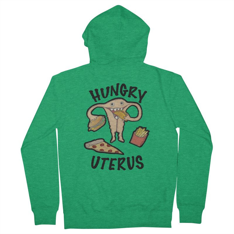 Hungry Uterus Women's Zip-Up Hoody by heARTcart's Artist Shop
