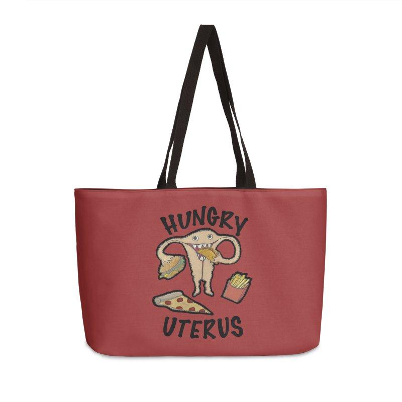 Hungry Uterus Accessories Weekender Bag Bag by heARTcart's Artist Shop