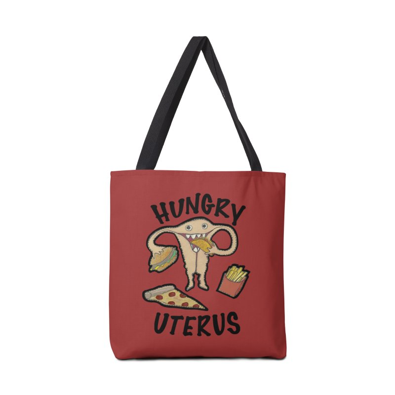 Hungry Uterus Accessories Bag by heARTcart's Artist Shop