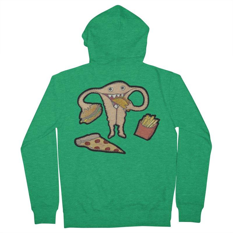 Hungry Uterus  Women's Zip-Up Hoody by heARTcart's Artist Shop