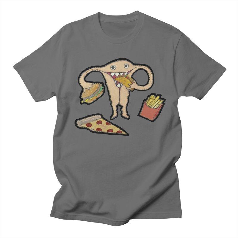 Hungry Uterus  Men's T-Shirt by heARTcart's Artist Shop