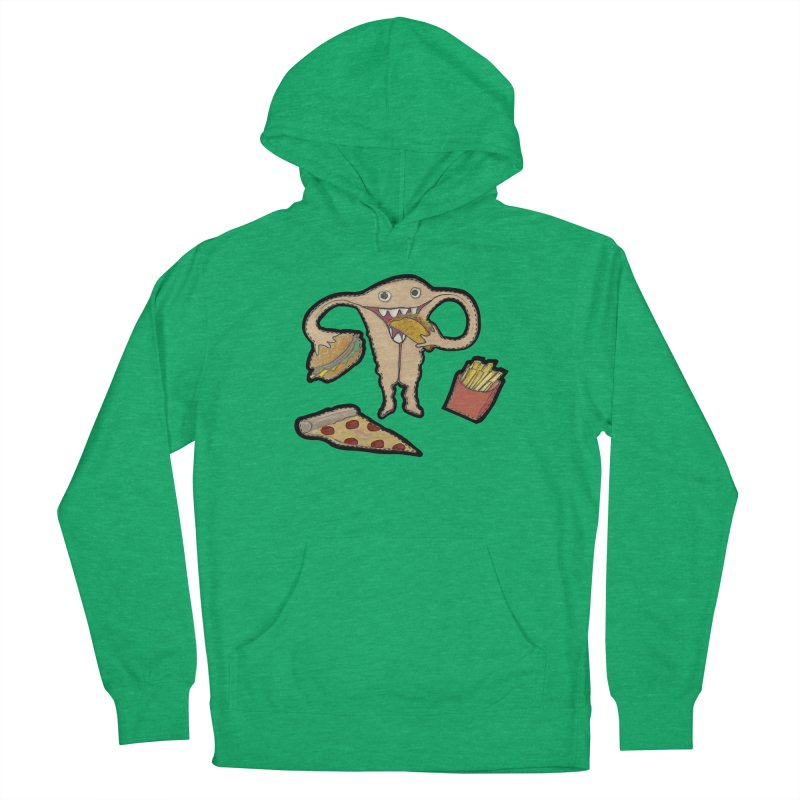 Hungry Uterus  Women's French Terry Pullover Hoody by heARTcart's Artist Shop