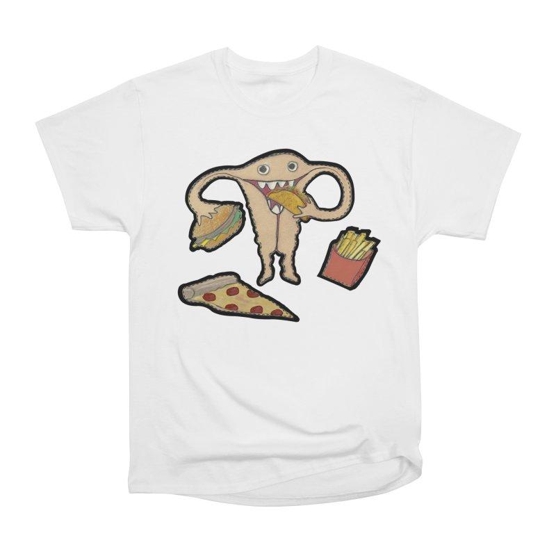 Hungry Uterus  Men's Heavyweight T-Shirt by heARTcart's Artist Shop