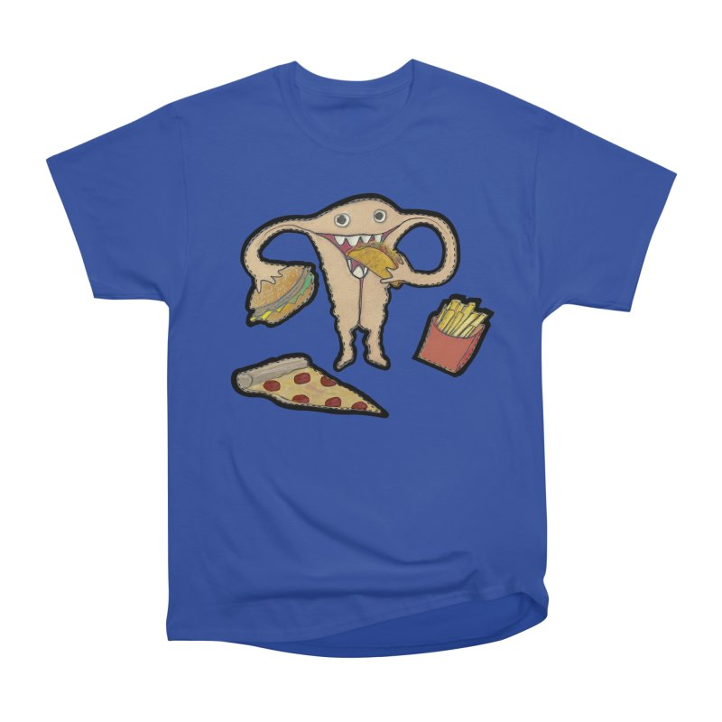 Hungry Uterus  Men's Heavyweight T-Shirt by heARTcart's Artist Shop