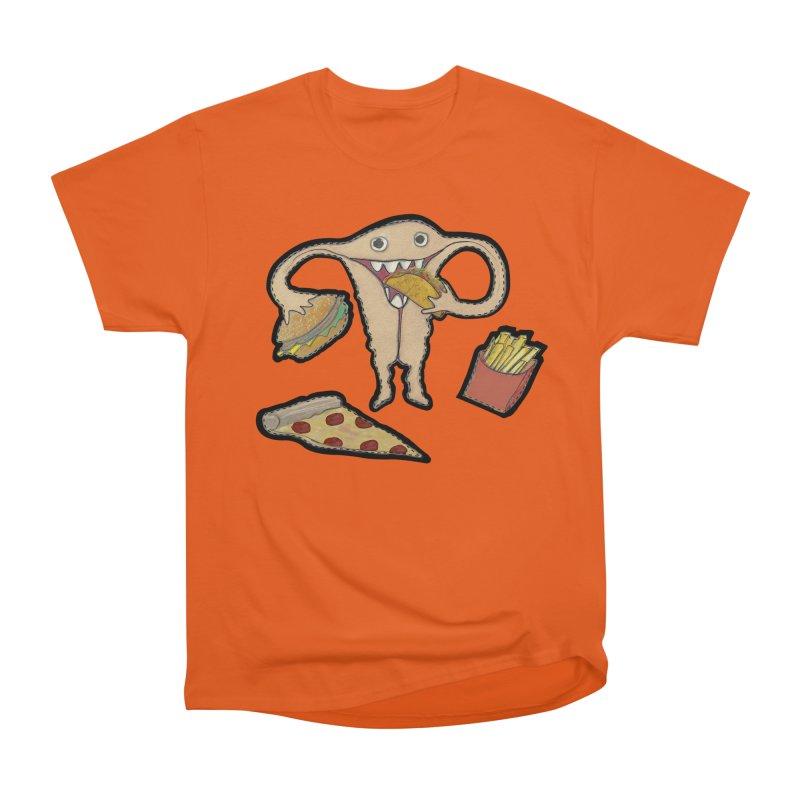 Hungry Uterus  Women's Heavyweight Unisex T-Shirt by heARTcart's Artist Shop