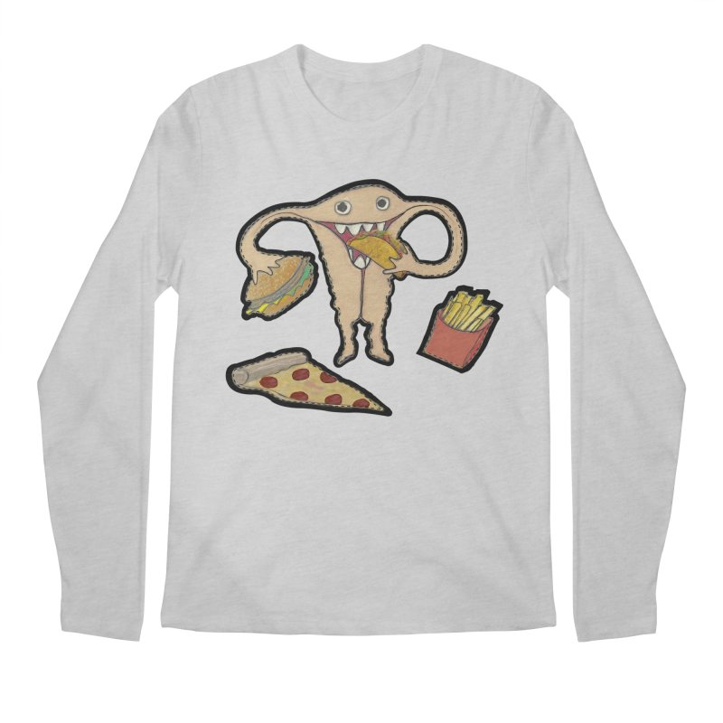Hungry Uterus  Men's Regular Longsleeve T-Shirt by heARTcart's Artist Shop