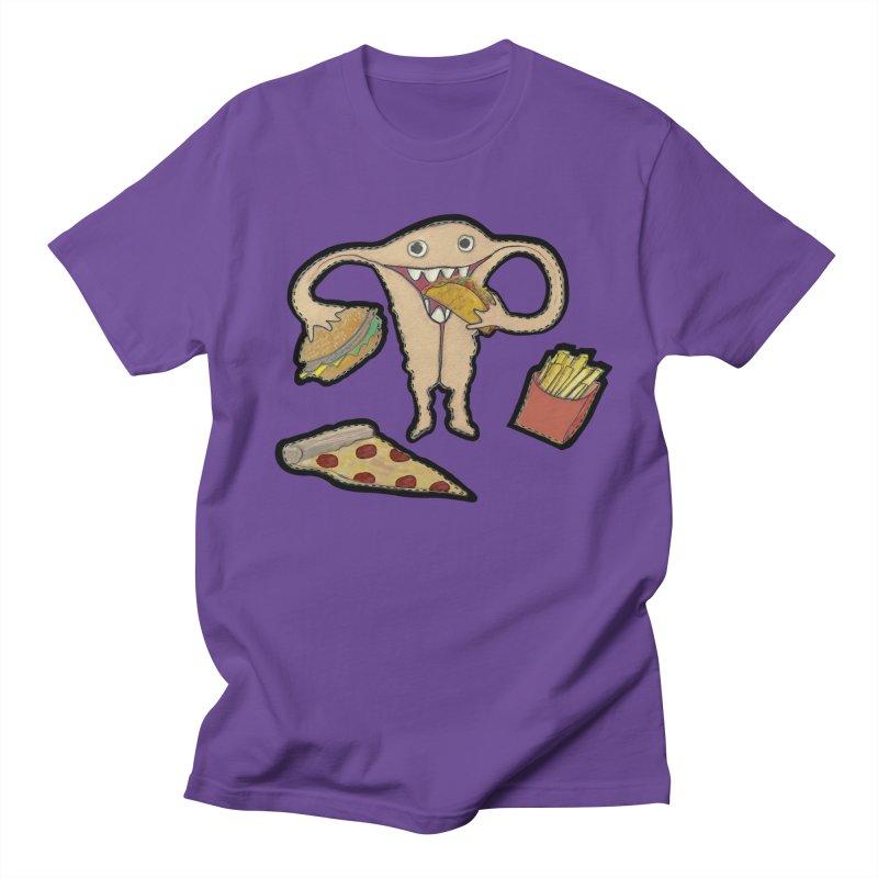 Hungry Uterus  Men's Regular T-Shirt by heARTcart's Artist Shop