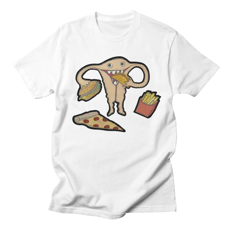 Hungry Uterus  Men's Regular T-Shirt by heARTcart's Artist Shop