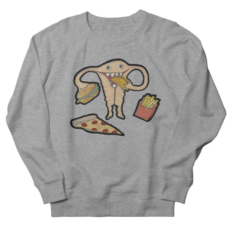 Hungry Uterus  Women's French Terry Sweatshirt by heARTcart's Artist Shop