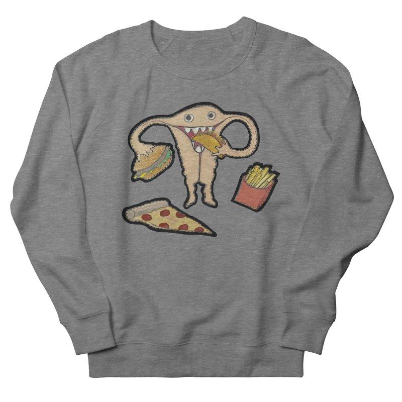 Hungry Uterus  Men's French Terry Sweatshirt by heARTcart's Artist Shop