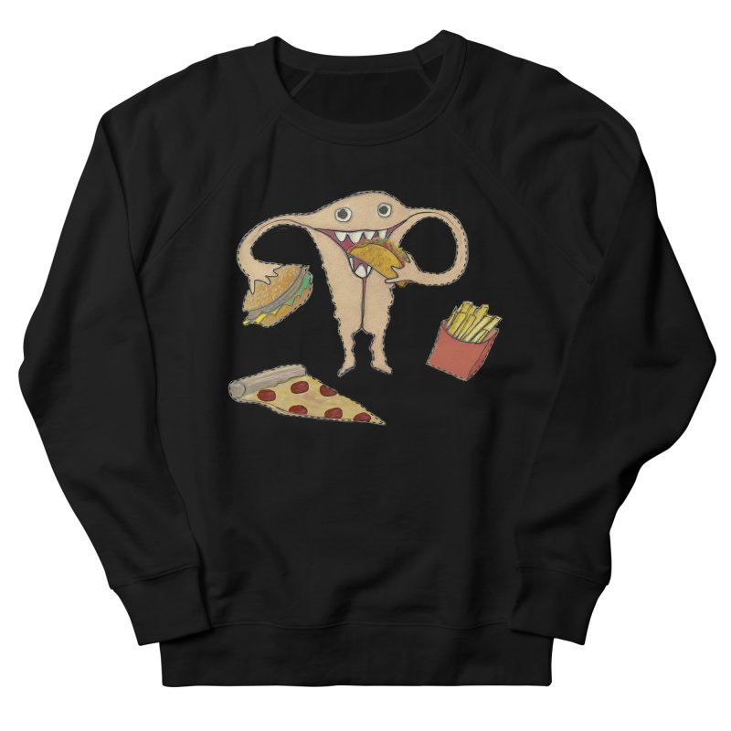 Hungry Uterus  Men's French Terry Sweatshirt by heARTcart's Artist Shop
