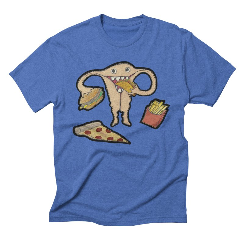 Hungry Uterus  Men's Triblend T-Shirt by heARTcart's Artist Shop