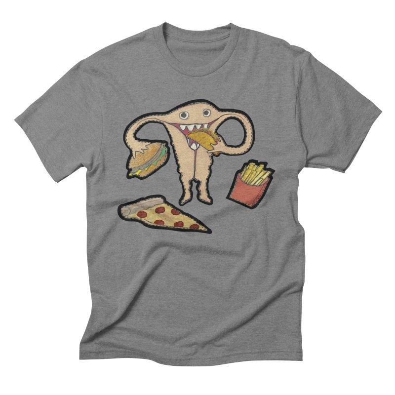 Hungry Uterus  Men's Triblend T-Shirt by heARTcart's Artist Shop