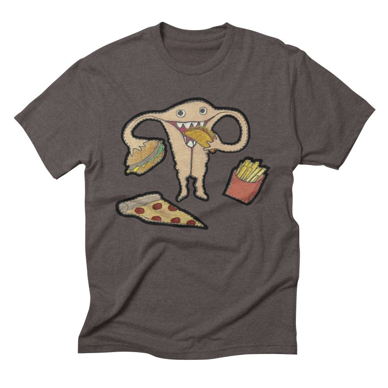 Hungry Uterus  Men's T-Shirt by heARTcart's Artist Shop