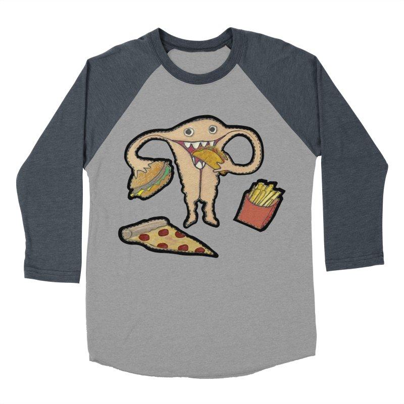 Hungry Uterus  Women's Baseball Triblend Longsleeve T-Shirt by heARTcart's Artist Shop