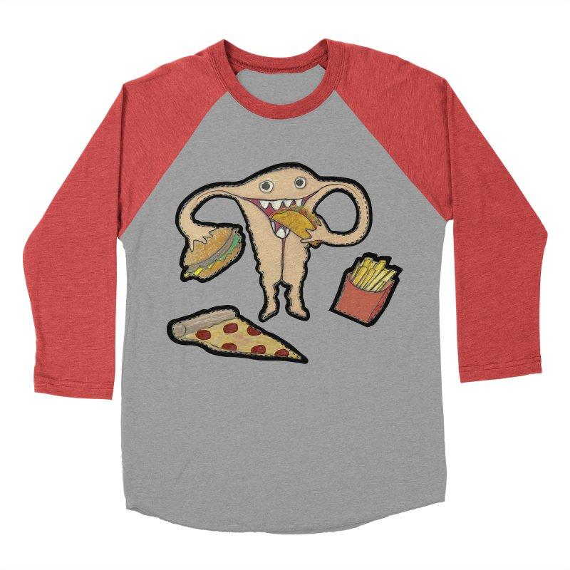 Hungry Uterus  Men's Baseball Triblend Longsleeve T-Shirt by heARTcart's Artist Shop
