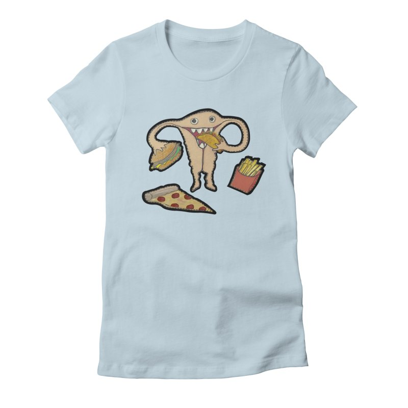 Hungry Uterus  Women's T-Shirt by heARTcart's Artist Shop