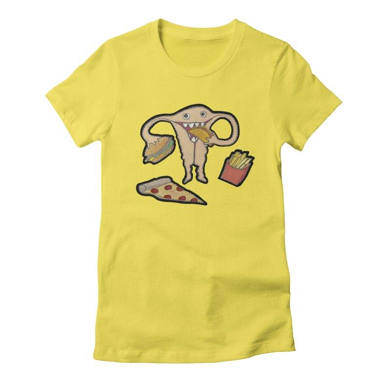 Hungry Uterus  Women's T-Shirt by heARTcart's Artist Shop