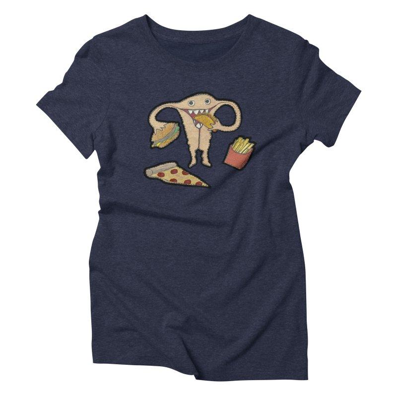 Hungry Uterus  Women's Triblend T-Shirt by heARTcart's Artist Shop