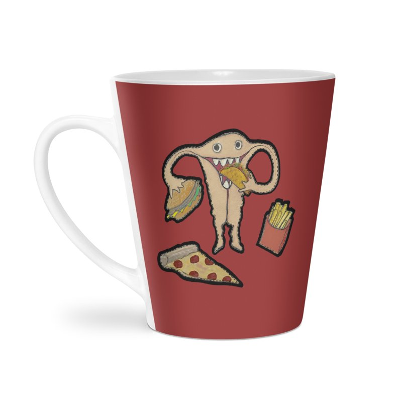 Hungry Uterus  Accessories Latte Mug by heARTcart's Artist Shop
