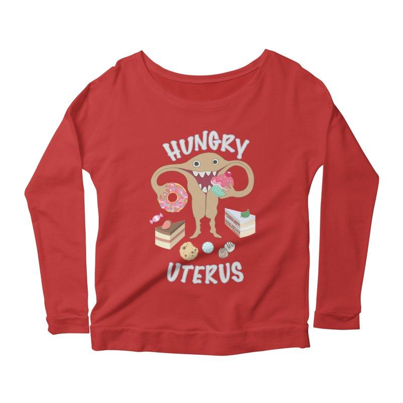 Hungry Uterus Sweet Tooth Women's Scoop Neck Longsleeve T-Shirt by heARTcart's Artist Shop