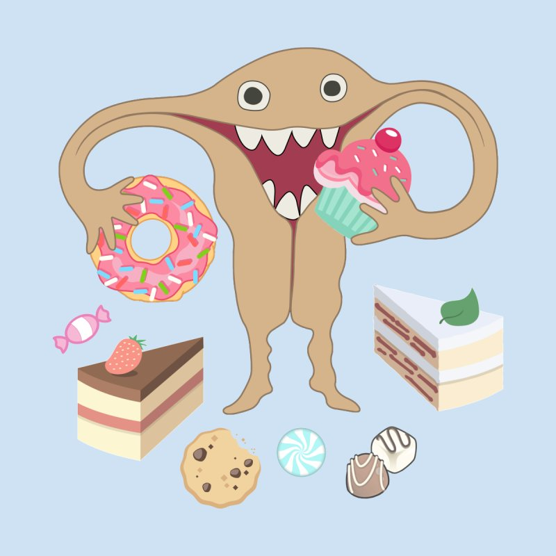 Hungry Uterus Sweet Tooth Home Fine Art Print by heARTcart's Artist Shop