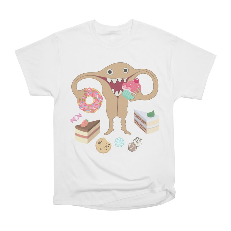 Hungry Uterus Sweet Tooth Men's Heavyweight T-Shirt by heARTcart's Artist Shop