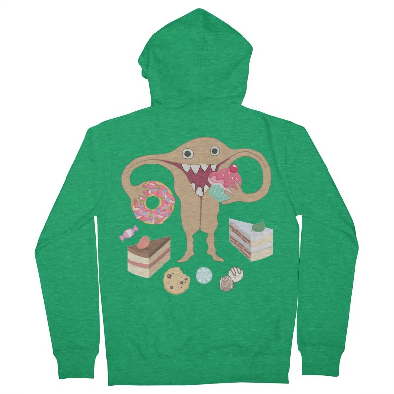 Hungry Uterus Sweet Tooth Women's Zip-Up Hoody by heARTcart's Artist Shop