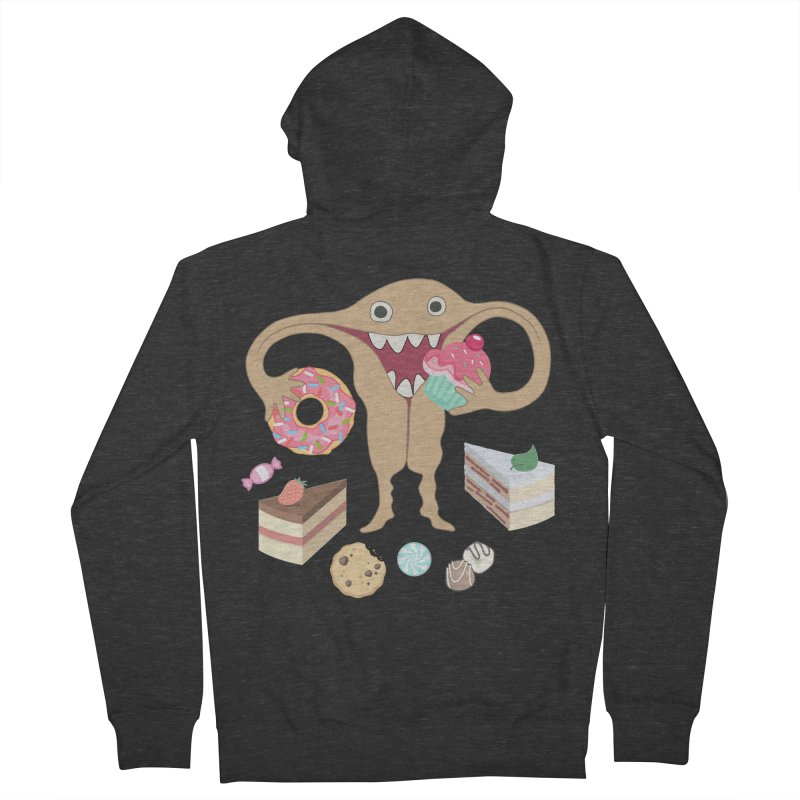 Hungry Uterus Sweet Tooth Women's French Terry Zip-Up Hoody by heARTcart's Artist Shop