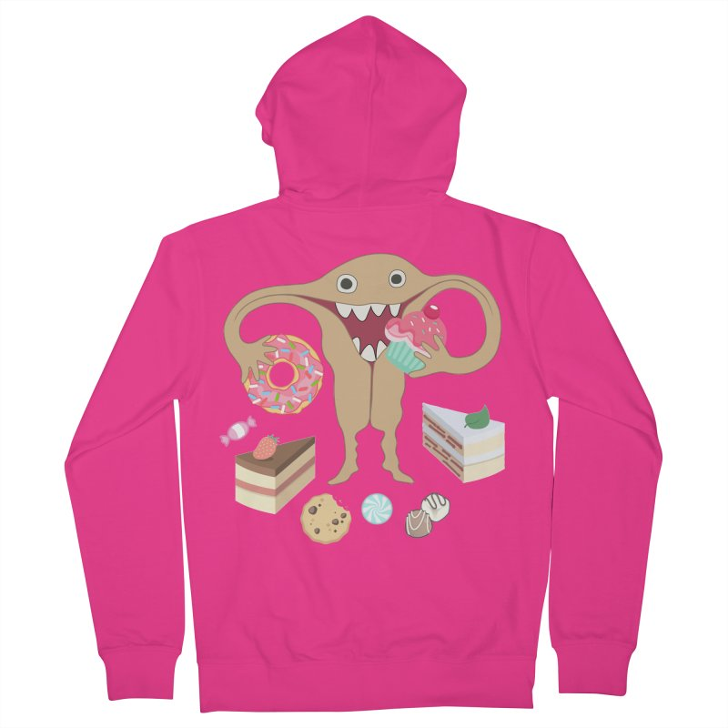 Hungry Uterus Sweet Tooth Men's French Terry Zip-Up Hoody by heARTcart's Artist Shop