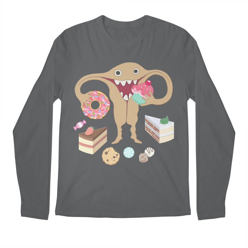 Hungry Uterus Sweet Tooth Men's Longsleeve T-Shirt by heARTcart's Artist Shop