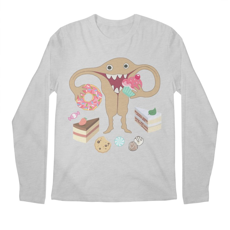 Hungry Uterus Sweet Tooth Men's Regular Longsleeve T-Shirt by heARTcart's Artist Shop