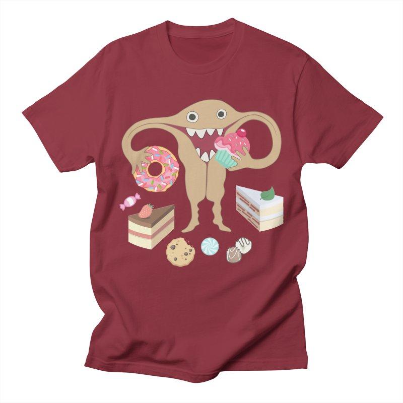 Hungry Uterus Sweet Tooth Men's Regular T-Shirt by heARTcart's Artist Shop
