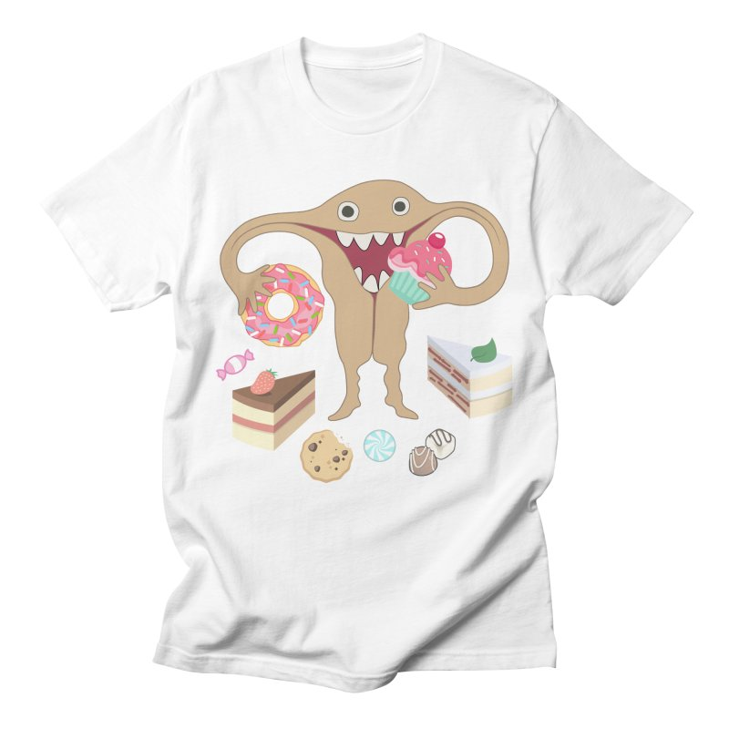 Hungry Uterus Sweet Tooth Men's Regular T-Shirt by heARTcart's Artist Shop
