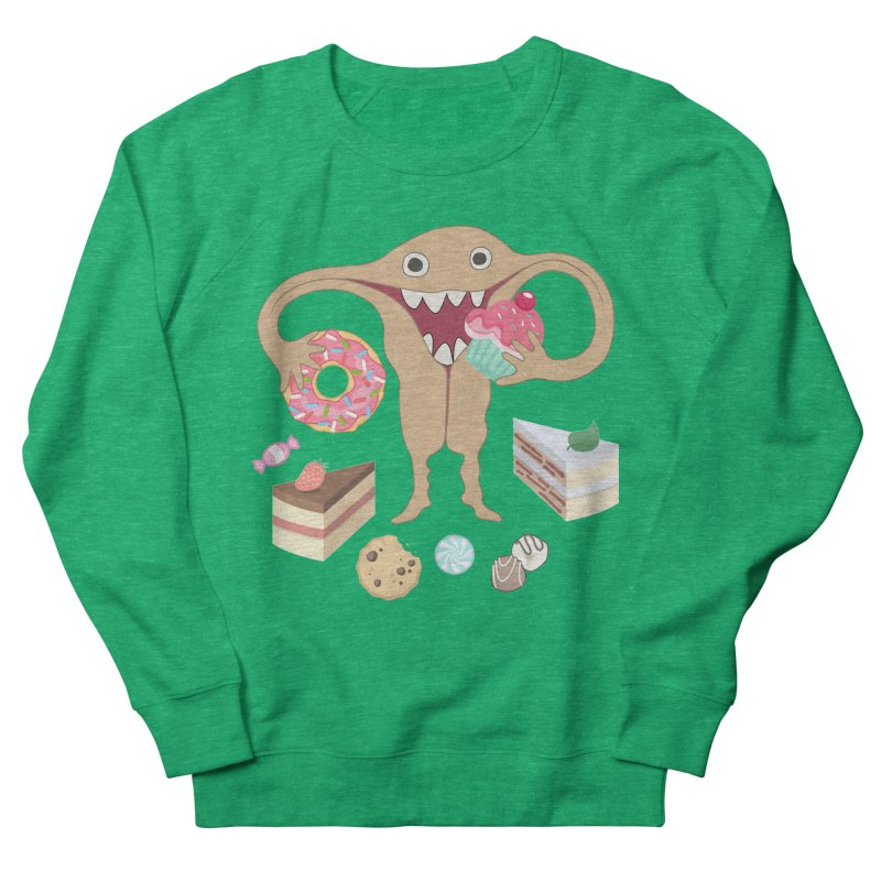 Hungry Uterus Sweet Tooth Women's Sweatshirt by heARTcart's Artist Shop
