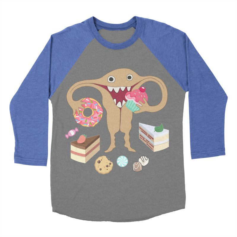 Hungry Uterus Sweet Tooth Women's Baseball Triblend Longsleeve T-Shirt by heARTcart's Artist Shop