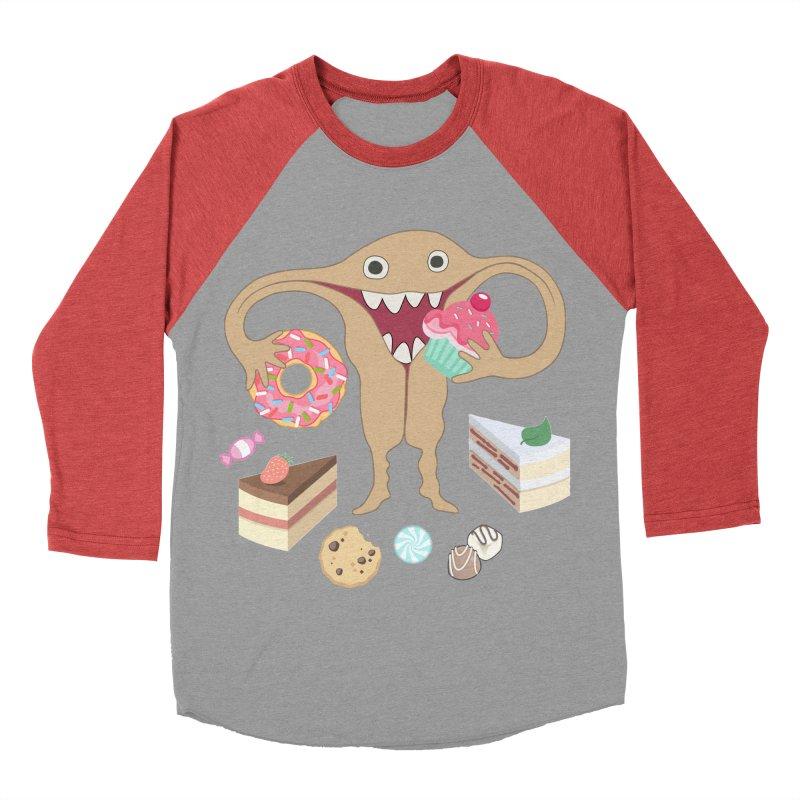 Hungry Uterus Sweet Tooth Women's Baseball Triblend Longsleeve T-Shirt by heARTcart's Artist Shop