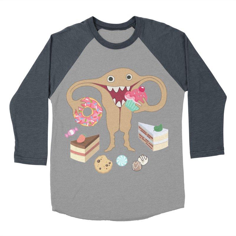 Hungry Uterus Sweet Tooth Men's Baseball Triblend Longsleeve T-Shirt by heARTcart's Artist Shop